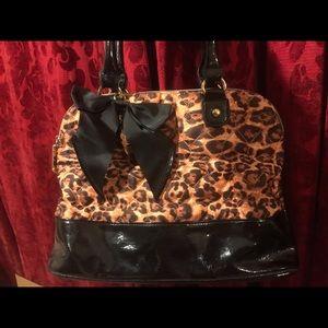 Betsy's Johnson Leopard Print Handbag